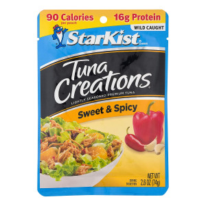StarKist Tuna Creations, Sweet and Spicy, 2.6 oz pouch (Pack of 12) (Packaging May Vary)
