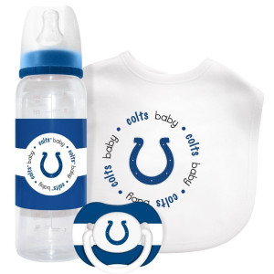 Indianapolis Colts Baby Bib,baby Bottle,pacifier Gift Set