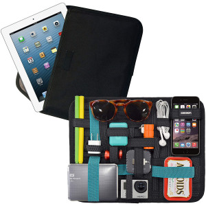 """Cocoon CPG46BKT 11"""" GRID-IT! Accessory Organizer with Tablet Pocket (Black/Teal)"""