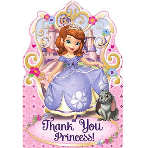 Postcard Thank You Cards | Disney Sofia The First Collection | Party Accessory