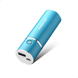[Upgraded] POWERADD Slim 2 Most Compact 5000mAh External Battery 2.1A Ouput Portable Charger with Smart Charge for iPhones, iPad, Samsung Galaxy, HTC and More - Blue