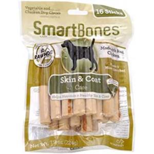 SmartBones Chicken Dog Chews Skin Coat (16 Sticks)
