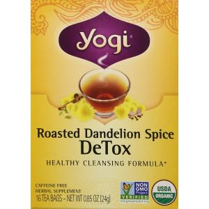Yogi Roasted Dandelion Spice Detox Tea Bags 16 oz