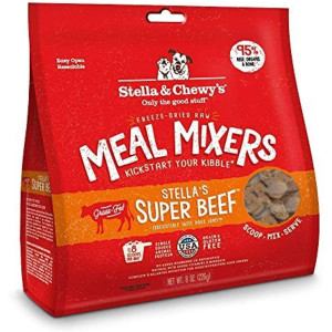 Stella and Chewy's Freeze-Dried Raw Stella's Super Beef Meal Mixers Grain-Free Dog Food Topper