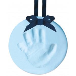 Tiny Ideas DIY No Bake Baby's Print Handprint or Footprint Keepsake Ornament with Ribbon, Blue