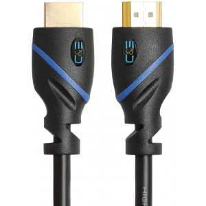 25ft (7.6M) High Speed HDMI Cable Male to Male with Ethernet Black (25 Feet/7.6 Meters) Supports 4K 30Hz, 3D, 1080p and Audio Return CNE60942