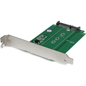 StarTech.com M.2 to SATA Expansion Slot Mounted SSD Adapter - NGFF Solid State Drive to SATA Converter - PCI or PCI-express Slot Mounted (S32M2NGFFPEX)