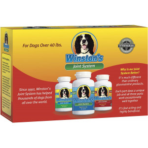 Winston's Joint System - for Medium Dogs from 40-99 Pounds - 100% Natural Whole Food Supplement for Arthritis, Hip Dysplasia and Joint + Pain Relief - One Month Supply - Since 1992