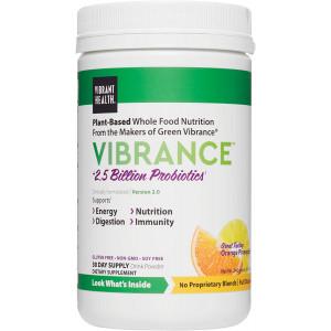 Vibrant Health, Vibrance, Plant-Based Green Superfood Powder, Orange Pineapple, 8.47 Oz