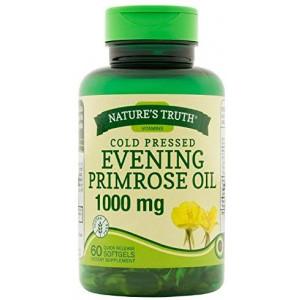 Nature's Truth Cold Pressed Evening Primrose Oil 1000 mg Capsules, 60 Count