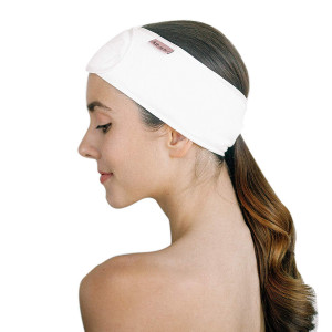Kitsch Spa Headband, Makeup Headband for Face Washing (White)