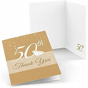 Big Dot of Happiness 50th Anniversary - Anniversary Thank You Cards (8 Count)