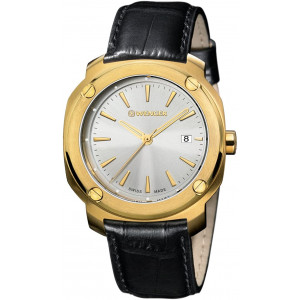 Wenger Men's Analogue Quartz Watch with Leather Strap 01.1141.113