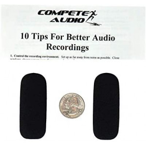 Compete Audio SH50 foam replacement microphone windscreens (microphone covers) (2-pack) for use with Sennheiser Aviation headsets