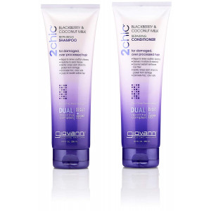 GIOVANNI COSMETICS - 2Chic Repairing Shampoo and Conditioner, 8.5 Fluid Ounce / 250 Milliliter - Dual Repairing Complex For Damaged Over-Processed Hair