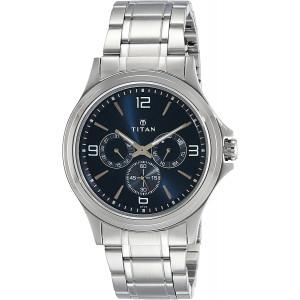 Titan Workwear Men's Chronograph Watch   Quartz, Water Resistant, Stainless Steel Band