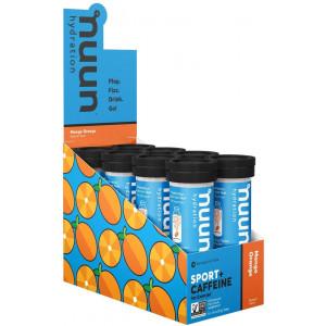 Nuun Sport + Caffeine: Electrolyte Drink Tablets, Mango Orange, 8 Tubes (80 Servings)