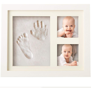 Bubzi Co Baby Footprint Kit and Handprint Kit for Baby Girl Gifts and Baby Boy Gifts, Unique Baby Shower Gifts, Personalized Baby Gifts for Baby Registry, Keepsake Box for Room Wall Nursery Decor