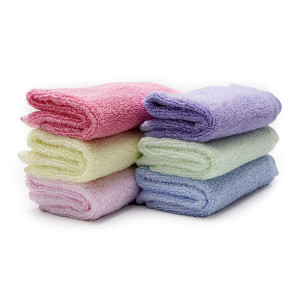 Luv Your Baby 100% Organic Bamboo Washcloths, Soft and Absorbent Baby Bath Towels Set for Sensitive Skin and Face, 6-Pack