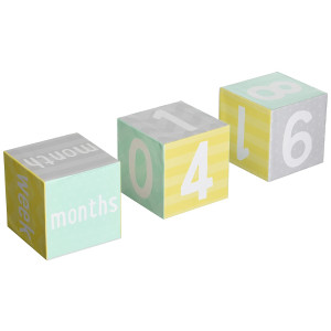 Tiny Ideas Photo Sharing Keepsake Age Blocks, Perfect Gift for New Parents