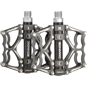 BONMIXC Bike Pedals 9/16 Cool Looking Great Performance Sealed Bearing Mountain Bicycle Pedals Aluminum Alloy Road Bike Pedals
