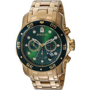 Invicta Men's Pro Diver Quartz Watch with Stainless-Steel Strap, Gold, 19 (Model: 21925)