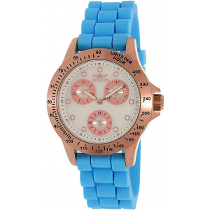Invicta Women's Speedway Blue Silicone Band Steel Case Quartz MOP Dial Analog Watch 21990