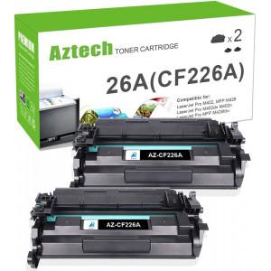 Aztech Compatible Toner Cartridge Replacement for HP 26A CF226A 26X CF226X Laserjet Pro M402dn M402n M402dn Laserjet Pro MFP M426fdw M426fdn M426dw (Black, 2-Pack)