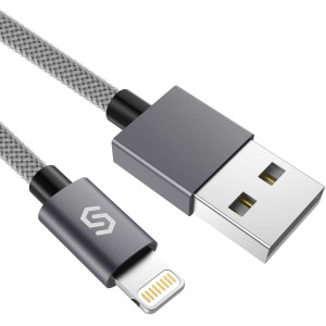 Syncwire Nylon Braided iPhone Charger Lightning Cable - 3.3ft/1M [Apple MFi Certified] iPhone Charging Cord for iPhone Xs Max/XS/XR/X, 8 7 6S 6 Plus, SE, 5S, 5C, 5, iPad Mini/Air/Pro and More - Grey