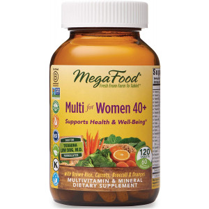 MegaFood, Multi for Women 40+, Supports Optimal Health and Wellbeing, Multivitamin and Mineral Dietary Supplement, Vegetarian, 120 tablets (60 servings)