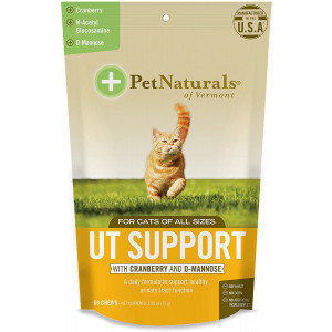 Pet Naturals of Vermont - UT Support for Cats, Urinary Tract Supplement, 60 Bite-Sized Chews