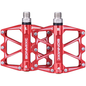 BONMIXC Bike Pedals 9/16 Sealed Bearing Sturdy Structure Ultralight Weight Mountain Bike Pedals Alloy Bicycle Pedals