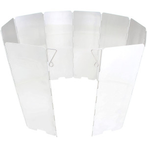 GasOne Aluminum 10 Plates Windscreen: for Use with Gas One Stove and Other Backpacking Stoves, Camping Stoves, Butane Stoves, Alcohol Stoves with Carrying Case