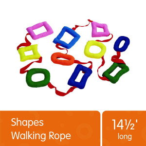 Excellerations Shapes Walking Rope for Kids Classroom Supplies(14 1/2' Long), Model Number: WALKROPE