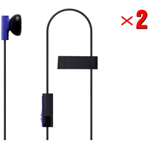 2 Pack Mono Chat Game Gaming Earbuds Earpiece earphones Headphones Headset with Mic Microphones for PS4 Playstation 4
