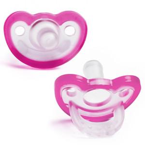 RaZbaby JollyPop Baby Pacifier Plus, 3m+, Pink, Double Pack
