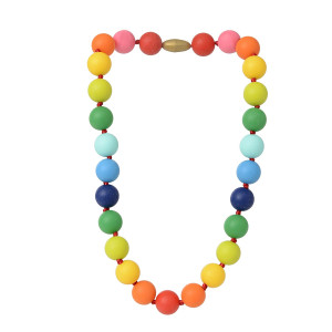 Juniorbeads by Chewbeads Christopher Jr. Necklace, 100% Safe Silicone - Multi