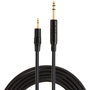 """1/4 to 1/8, CableCreation [10ft/3M] 3.5mm 1/8"""" Male Stereo to 6.35mm 1/4"""" Male TRS Stereo Audio Cable Gold Plated Compatible with iPod, iPhone, Laptop, Home Theater, Amplifiers, Guitar and More, Black"""