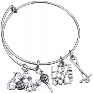 Infinity Collection Golf Bracelet, Golf Jewelry- Golf Bangle Bracelet for Golf Players