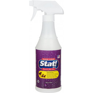 Stat! Spray Pet Wound and Skin Care with Enhanced Hydrogel; First-Aid Treatment for Dogs, Cats and Horses, Speeds Healing of Cuts, Bites, Scratches; Soothing Relief Hot Spots, Itching, Chewing, 16 fl. oz.
