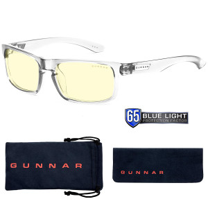 Gaming Glasses   Blue Light Blocking Glasses   Enigma/Void by Gunnar   65% Blue Light Protection, 100% UV Light, Anti-Reflective To Protect and Reduce Eye Strain and Dryness