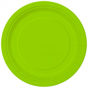 """Unique party tableware Neon Green Dinner Plates, 16ct, 9"""""""