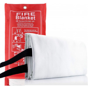 Tonyko Fiberglass Fire Blanket for Emergency Surival, Flame Retardant Protection and Heat Insulation with Various Sizes