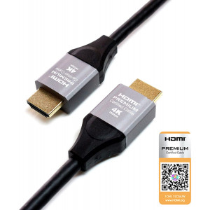 Tera Grand - 3 FT Premium HDMI Certified 2.0 Cable, 4K Ultra HD 2160P at 60Hz, HDMI 2.0b Dolby Vision HDR, 18 Gbps 4:4:4 Chroma UHD Aluminum Housing 3D, Compatible with Apple TV, Sony Playstation PS4