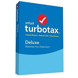 Intuit 428970 Turbotax Deluxe Fed, State, E-File 2016, Old Version, for Pc/Mac, Traditional Disc