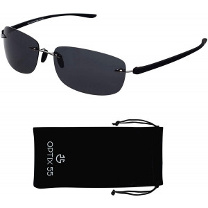 Rimless Bifocal Sunglasses for Men and Women - Lightweight Invisible Line Reader Sunglasses - 100% UV Ray Sun Protection
