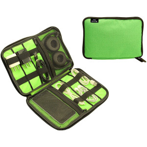 Electronics Accessories Organizer, Carry On Bag, Portable Waterproof Accessories Holder, Design for Traveling Gear Organizer and Outdoor Accessories Bag/USB Flash and SD Drive Bag,Green