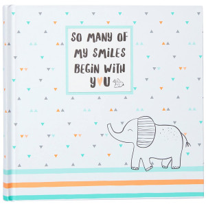 """Carter's Animal Themed Slim Bound Baby Photo Journal Album, 9"""" W x 8.875"""" H, 80 Pages"""