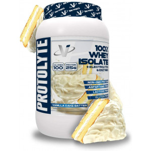 VMI Sports ProtoLyte 100% Whey Isolate Protein Powder, Vanilla Cake Batter, 1.63lb, with Amino Acids, Electrolytes, Enzymes, High Protein, Gluten Free, Lactose Free, Sugar Free