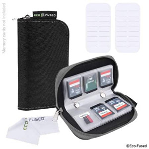 Memory Card Case ((S) 2 Pack - 44 Slots, Black and Grey)